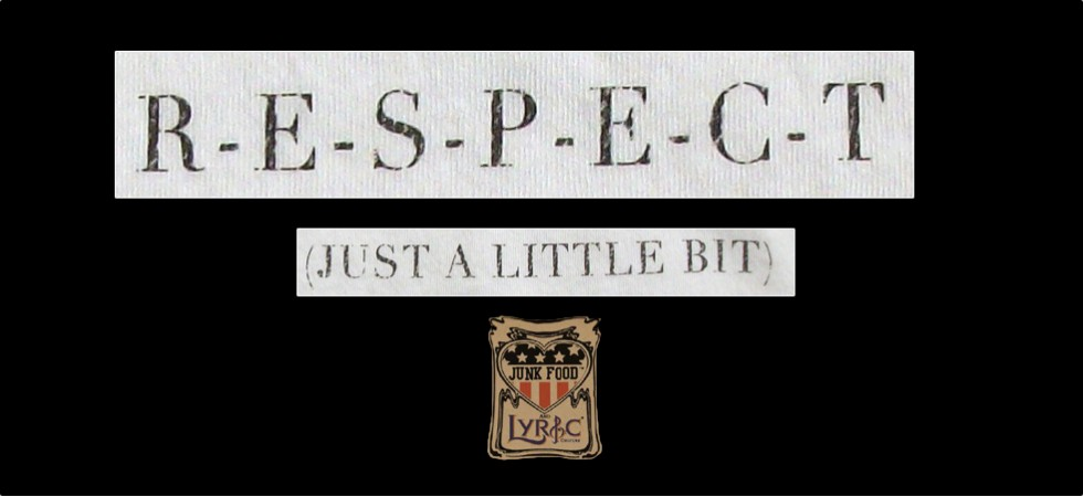 Respect t-shirt from Lyric culture