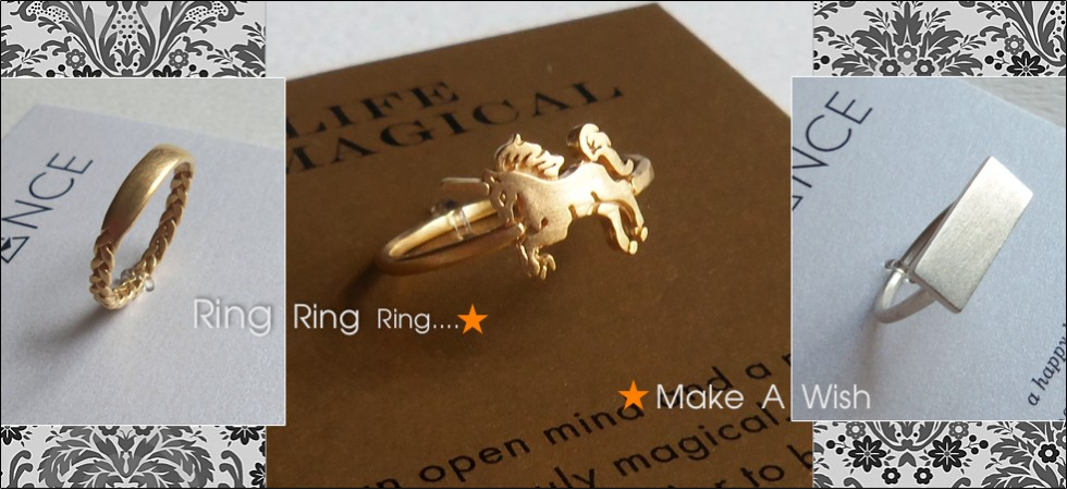 Dogeared Make a Wish Ring