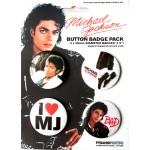 Michael Jackson Badge Set BAD