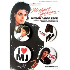 Michael Jackson Badge Set BAD
