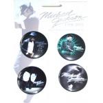 Michael Jackson Badge set BLUE