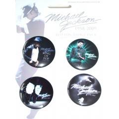 Michael Jackson Badge set BLUE