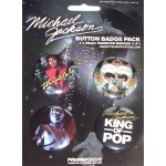 Michael Jackson Badge Set King of Pop