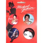 Michael Jackson Badge Set RED