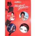 Michael Jackson Badge Set RED