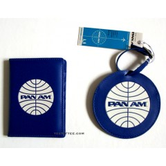Pan Am Passport Cover & Luggage Tag Set / PB