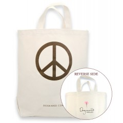 Dogeared Shopping Bag PEACE