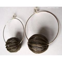 Crochet Wire Bead Hoops