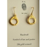 Handcuff charm Earrings Gold