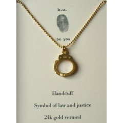 Handcuff Gold Necklace