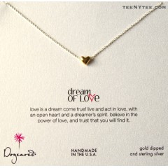 Dream of Love Gold Heart Necklace