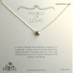 Pearl of Love Silver Pearl Bridal Boxed