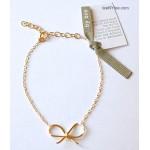 Reminder Bow charm Bracelet by boe