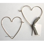 Big Love Wire Heart Hoop Earrings