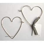 Big Love Wire Heart Hoop Earrings