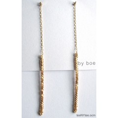 Long Sparkling Drop Earrings by boe