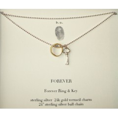 Forever Necklace Skeleton Key & Forever Ring