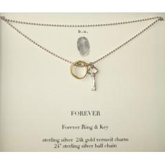 Forever Necklace Skeleton Key & Forever Ring