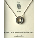 Engraved Karma Necklace