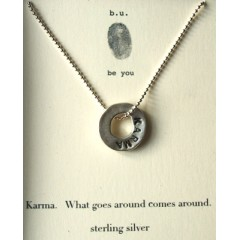 Engraved Karma Necklace