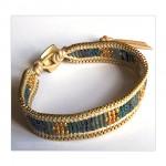 Single Wrap Tribal Seed Beads Bracelet