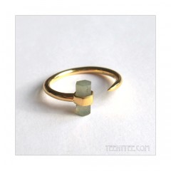 Labradorite Bar Ring Gold Fill
