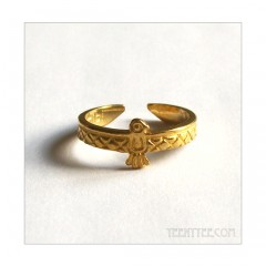 Native Bird Ring Brass