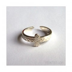 Native Bird Ring Sterling Silver