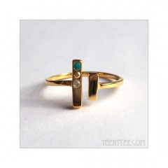 Mix Gemstone Chime Ring Gold Fill