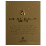 Crescent Charm Let Imagination Shine Necklace Gold