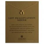 Crescent Charm Let Imagination Shine Necklace Gold