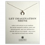 Crescent Charm Let Imagination Shine Necklace Silver