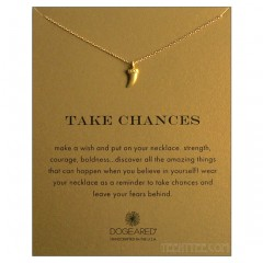 Horn Charm Take Chances Necklace Gold