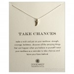Horn Charm Take Chances Necklace Silver
