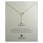 KARMA Double Circle Lariat Sterling Silver Boxed