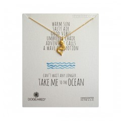 Pretty Mermaid Necklace Take Me to the Ocean Gold Boxed