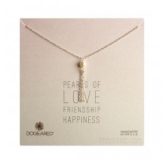 Pearls of Love Potato pearl and Tassel Sterling SIlver