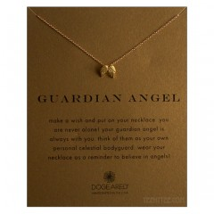 Guardian Angel Necklace Angel Wings Charm Gold