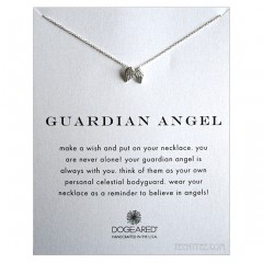 Guardian Angel Necklace Angel Wings Sterling Silver