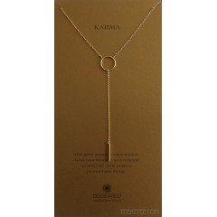 Karma Medium Ring Y Necklace with Bar Drop Boxed Gold