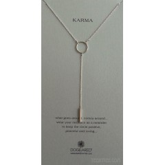 Karma Medium Ring Y Necklace with Bar Drop Boxed Sterling Silver