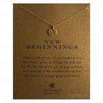 New Beginnings Necklace Rising Lotus Gold