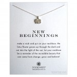 New Beginnings Necklace Rising Lotus Sterling Silver