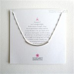 Balance Tube on Sparkle Bar Chain Necklace SS/SS Boxed