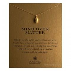 3D Buddha Head Mind Over Matter Necklace Gold Boxed