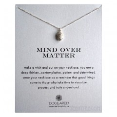 3D Buddha Head Mind Over Matter Necklace Sterling Silver Boxed