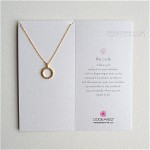 The Open Dotted Circle Necklace Gold with Box