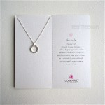 The Open Dotted Circle Necklace Streling Silver Boxed