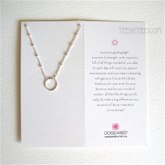 Karma Ring on Beaded Chain Necklace Sterling Silver / Boxed