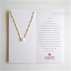 Pearls of ...Necklace White Pearl on Beaded Chain Gold / Boxed